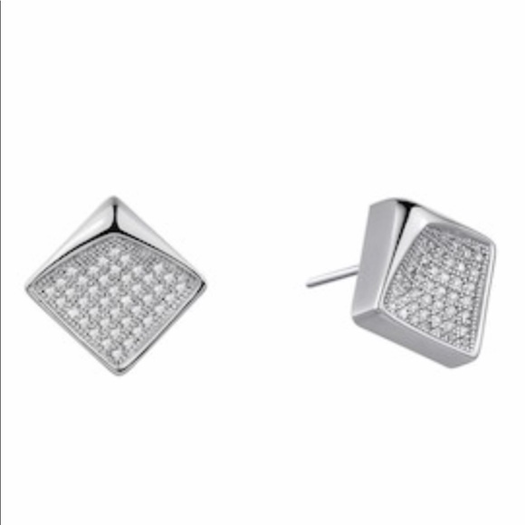 fc3ff22df LaFonn Jewelry | New Platinum Plated Diamond Earrings By | Poshmark